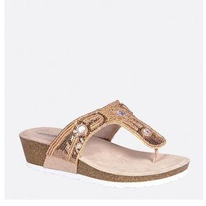 New Women's Embroidered Wedge Sandals